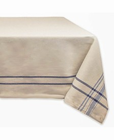 "Chambray French Stripe Tablecloth 60"" x 84"""