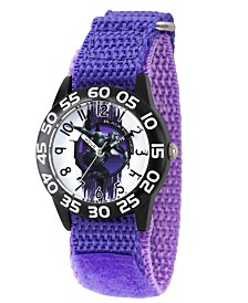 EwatchFactory Boy's Marvel's Panther Purple Plastic Time Teacher Strap Watch 32mm