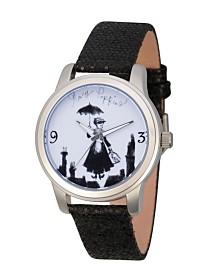 EwatchFactory Women's Disney Mary Poppins Black Strap Watch 38mm