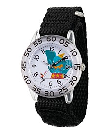 Girl's Disney Timothy Q. Mouse Dumbo Black Plastic Time Teacher Strap Watch 32mm