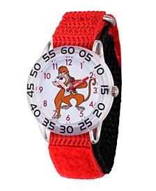 Boy's Disney Aladdin Abu Red Plastic Time Teacher Strap Watch 32mm