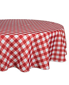 """Check Outdoor Tablecloth with Zipper 60"""" Round"""