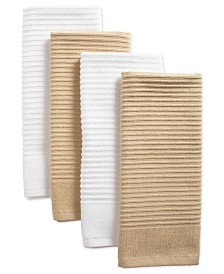 Assorted Ribbed Terry Dishtowel, Set of 4