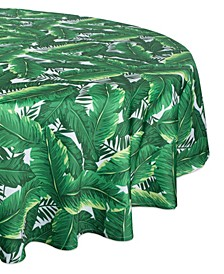 "Banana Leaf Outdoor Tablecloth with Zipper 60"" Round"