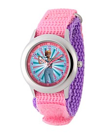 Girl's Disney Toy Story 4 Bo Peep Pink Stainless Steel Time Teacher Strap Watch 32mm