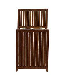 Redmon Genuine Teak Hamper with Laundry Bag