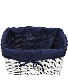 Redmon Rectangular Willow Hamper Cloth Liner