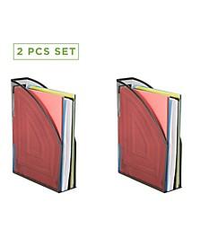 2 Piece Mesh Magazine File Box