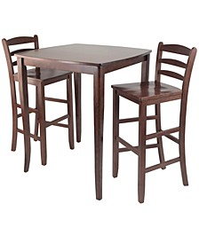3-Piece Inglewood High/Pub Dining Table with Ladder Back Stool