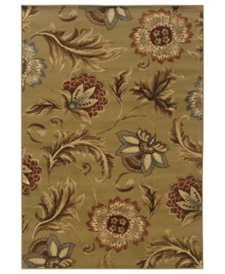 CLOSEOUT! Area Rug, Pember 701J Floral Brown 8' x 10'