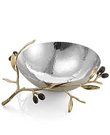 Olive Branch Gold Medium Serving Bowl