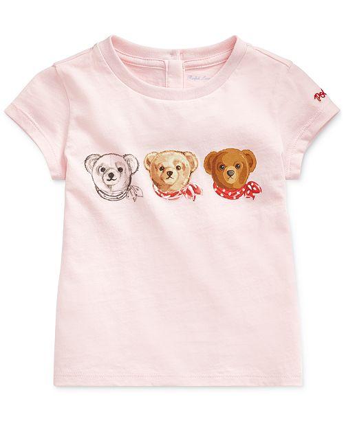Polo Ralph Lauren Baby Girls Polo Bear Jersey T-Shirt