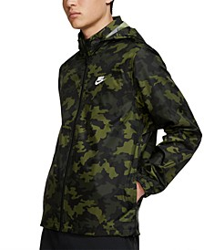 Men's Sportswear Camo Hooded Windbreaker
