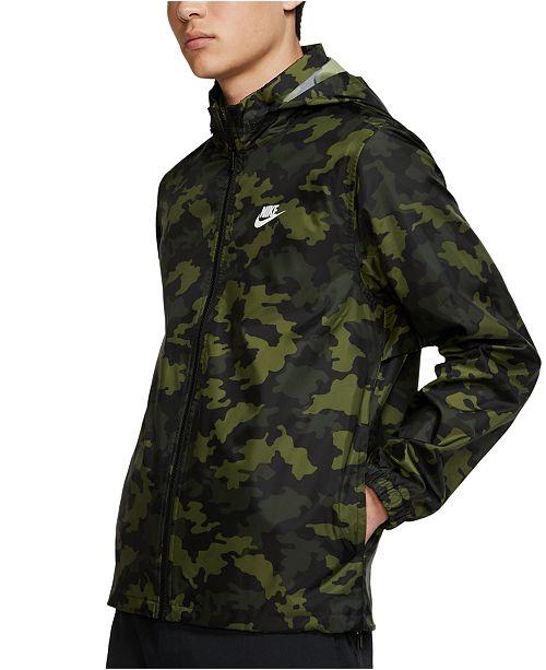 Men's Sportswear Camo Hooded Windbreaker