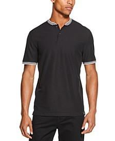 Men's Performance Tipped Baseball-Collar Henley