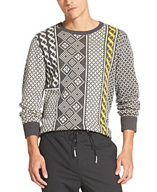 DKNY Men's Fair Isle Patterned Sweater