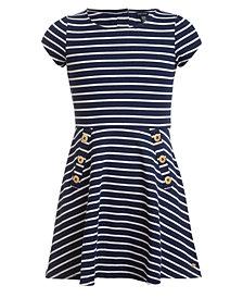 Tommy Hilfiger Big Girls Striped Piqué Dress