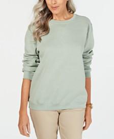 Karen Scott Long-Sleeve Crewneck Sweatshirt, Created for Macy's
