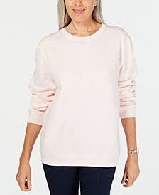 Karen Scott Sport Long-Sleeve Crewneck Sweatshirt, Created for Macy's