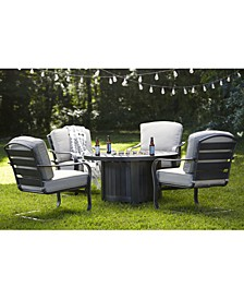 Marlough II Outdoor Fire Pit and Chat Collection, with Sunbrella® Cushions, Created for Macy's