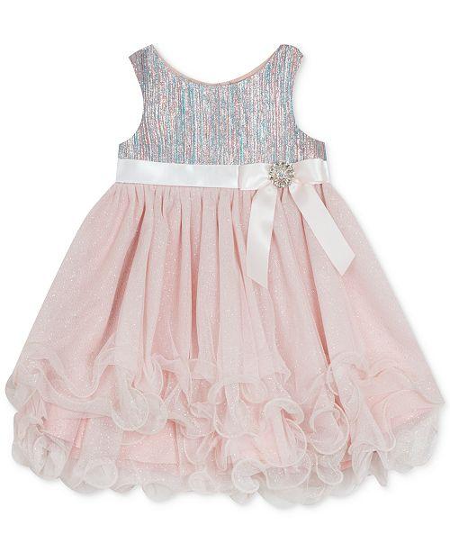 Rare Editions Baby Girls Brocade Glitter Dress