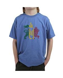 Big Boy's Word Art T-Shirt, One Love