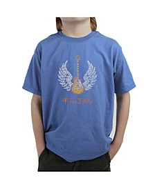 Big Boy's Word Art T-Shirt - Lyrics To Freebird