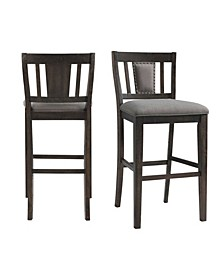 "Steele 30"" Slat Back Bar Stool Set"