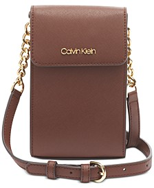 North South Leather Crossbody
