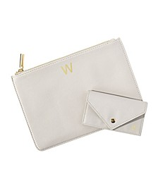 Personalized Polyurethane Clutch and Envelope Wallet Set