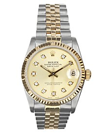 Women's Swiss Automatic Datejust Jubilee Diamond (1/8 ct. t.w.) 18K Gold & Stainless Steel Bracelet Watch 31mm