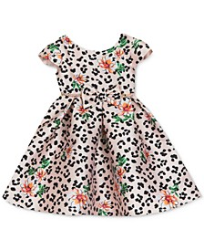 Baby Girls Leopard Floral Mikado Dress