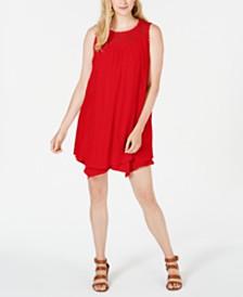 Style & Co Lace-Yoke Handkerchief-Hem A-Line Dress, Created for Macy's