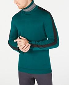 Alfani Men's Colorblocked Turtleneck, Created for Macy's