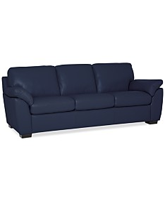 Blue Leather Sofas & Couches - Macy\'s
