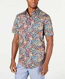 Men's Stretch Piave Paisley Print Shirt