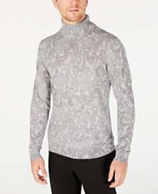 Tasso Elba Men's Paisley Supima Cotton Turtleneck, Created for Macy's