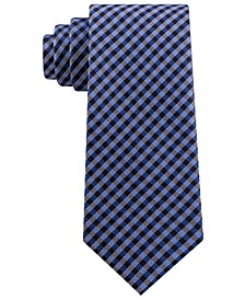 Men's Classic Textured Plaid Tie