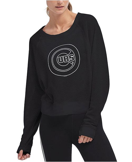 DKNY Women's Chicago Cubs Mesh Pullover