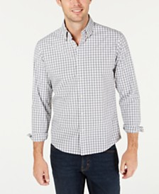 Michael Kors Men's Slim-Fit Stretch Gingham Shirt, Created For Macy's