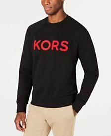 Michael Kors Men's Logo Fleece Crew Neck Sweatshirt, Created For Macys