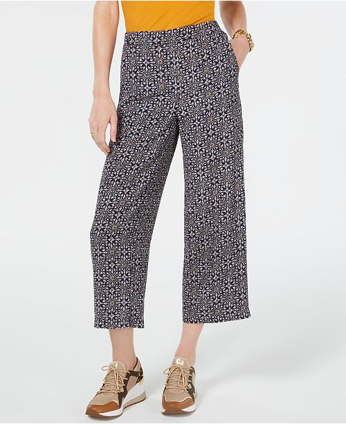 Michael Kors Tangier Cropped Ankle Pants, Regular & Petite Sizes