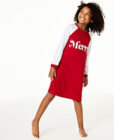 Matching Kids Merry Sleep Shirt, Created For Macy's