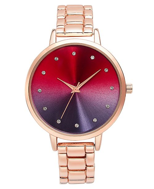 INC International Concepts INC Rose Gold-Tone Bracelet Watch 40mm, Created for Macy's