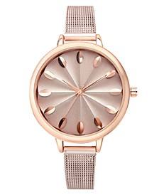 INC Rose Gold-Tone Mesh Bracelet Watch 41mm, Created for Macy's