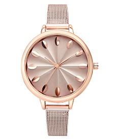 I.N.C. Rose Gold-Tone Mesh Bracelet Watch 41mm, Created for Macy's