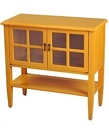 Heather Ann Vivian 2-Door Console Cabinet with Shelf