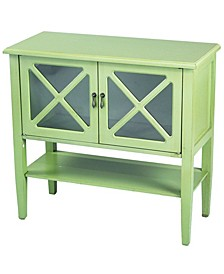 Heather Ann Cottage Console Cabinet with Shelf