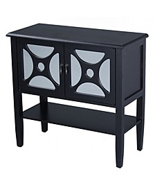 Heather Ann Asia 2-Door Console Cabinet with Shelf