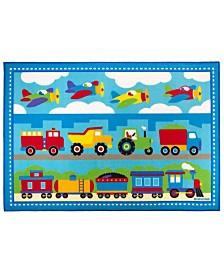 Wildkin Trains, Planes, Trucks 39 X 58 Rug